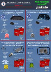 Panfleto 4 ofertas kits mantenimiento cambios ATF