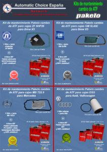 Panfleto II 4 ofertas kits mantenimiento cambios ATF